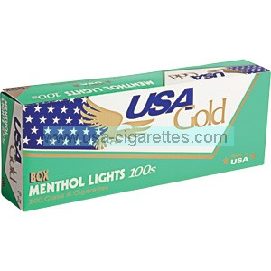 USA Gold Menthol Green 100's cigarettes