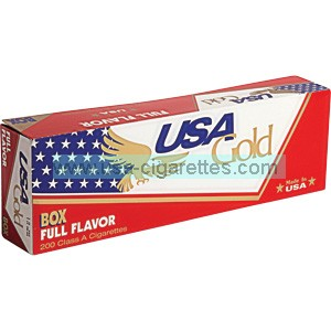 USA Gold Red 100's cigarettes