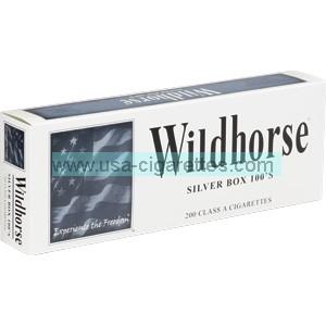 Wildhorse Silver 100's Cigarettes