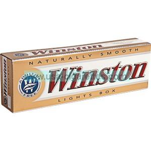 Winston Gold 85 box cigarettes
