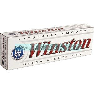Winston White 85 box cigarettes