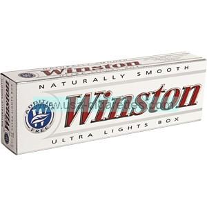 Winston White 85 box cigarettes
