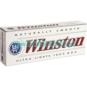 Winston White 100's box cigarettes