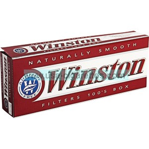 Winston Red 100's box cigarettes