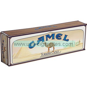 Camel Turkish Gold King box cigarettes