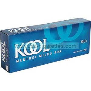 Kool Menthol Blue 100's box cigarettes