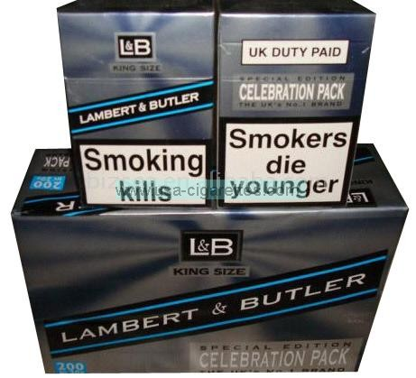 lambert & butler cigarettes celebration pack